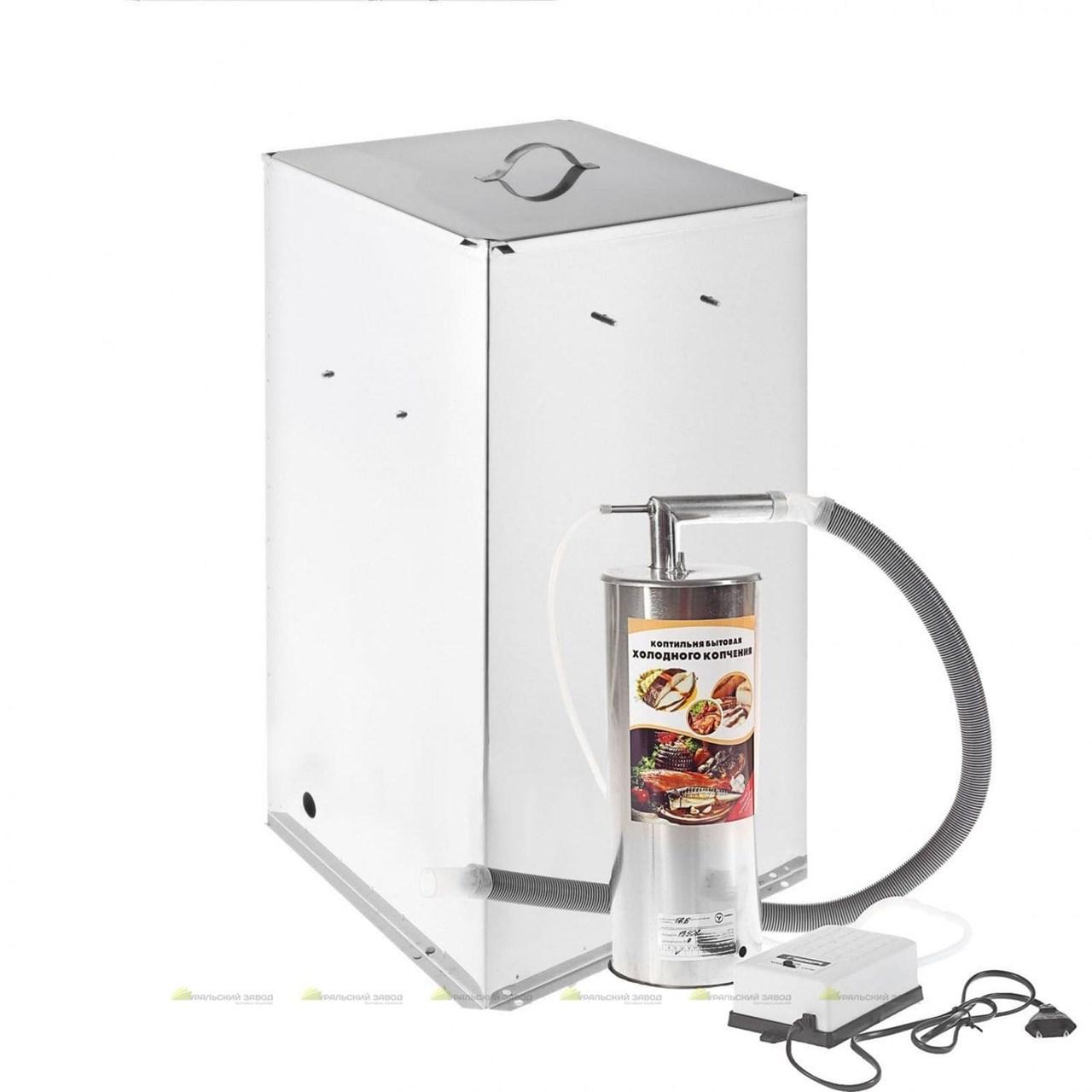 Коптильня Дым Дымыч 02Б холодное копчение из нерж. стали с емкостью 50 л. УЗБИ - фото 12020