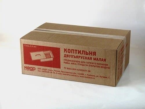 Коптильня для рыбы и мяса сталь 0,8мм. 420х270х175 - фото 4719