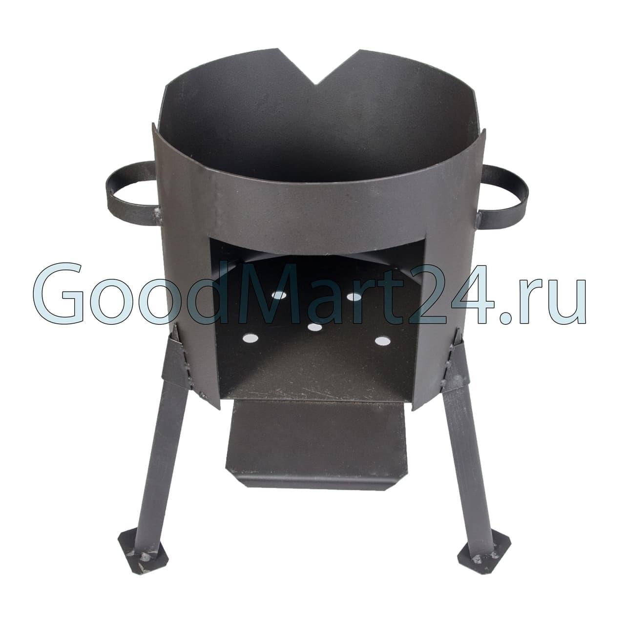 Чугунный казан 4 л. Балезинский ЛМЗ + Печь d-280 мм сталь 2 мм. - фото 4828