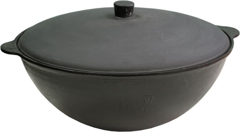 купить казан из чугуна 12 литров БЛМЗ + печь D-360 мм сталь 2 мм