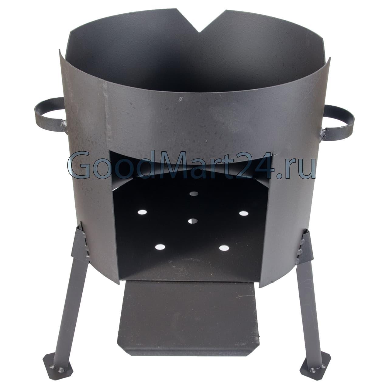 заказать комплект казан из чугуна 12 литров БЛМЗ + печь D-360 мм сталь 2 мм