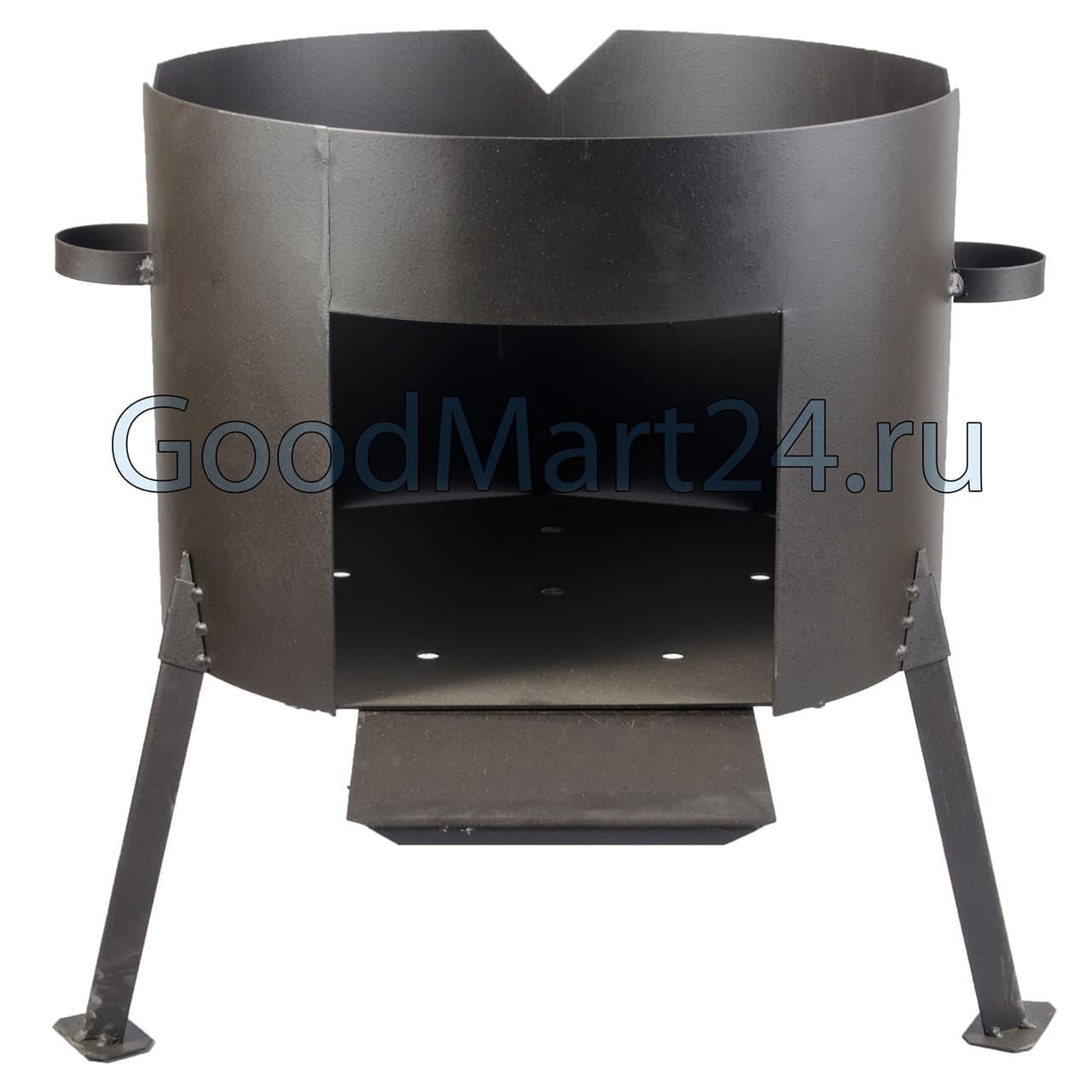 Чугунный казан 25 л. Балезинский ЛМЗ + Печь d-480 мм сталь 2 мм. - фото 4853