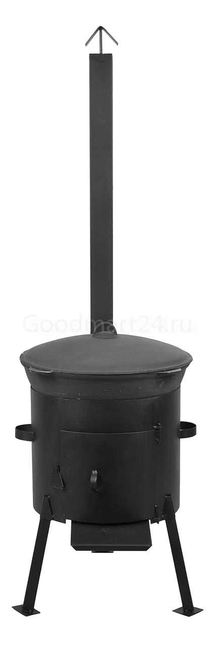 чугунный казан 8 литров БЛМЗ и печь с трубой