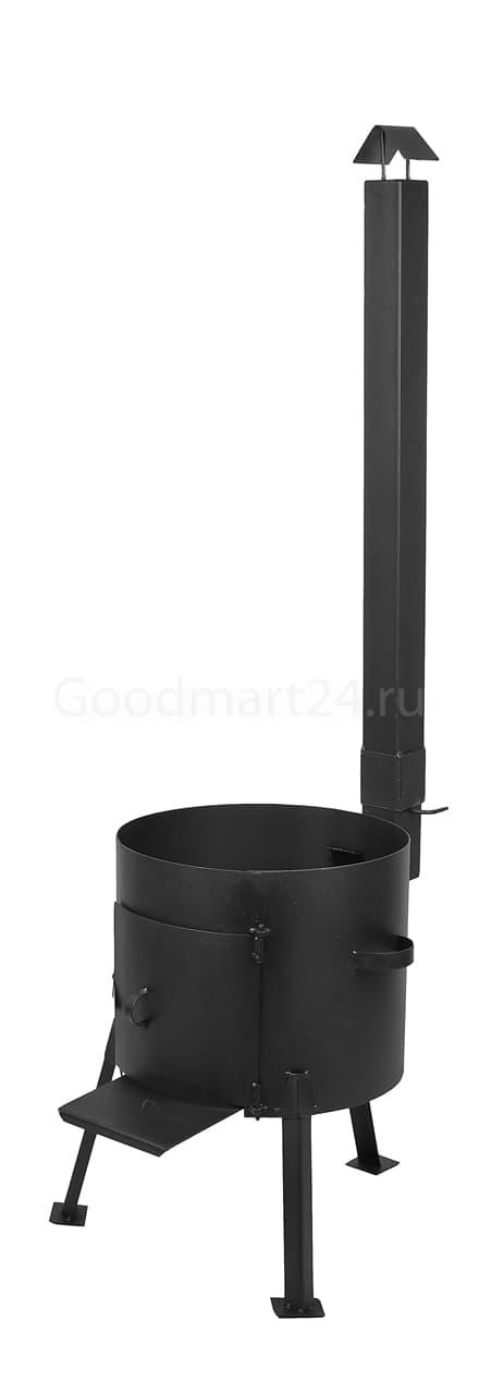 Чугунный казан 12 л. Балезинский ЛМЗ + Печь с трубой D-360 мм сталь 2 мм. - фото 4881