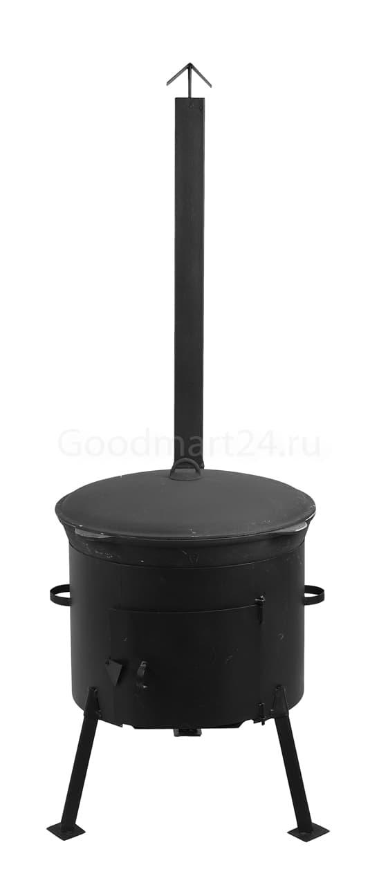 Чугунный казан 12 л. Балезинский ЛМЗ + Печь с трубой усиленная s- 3 мм. - фото 4904