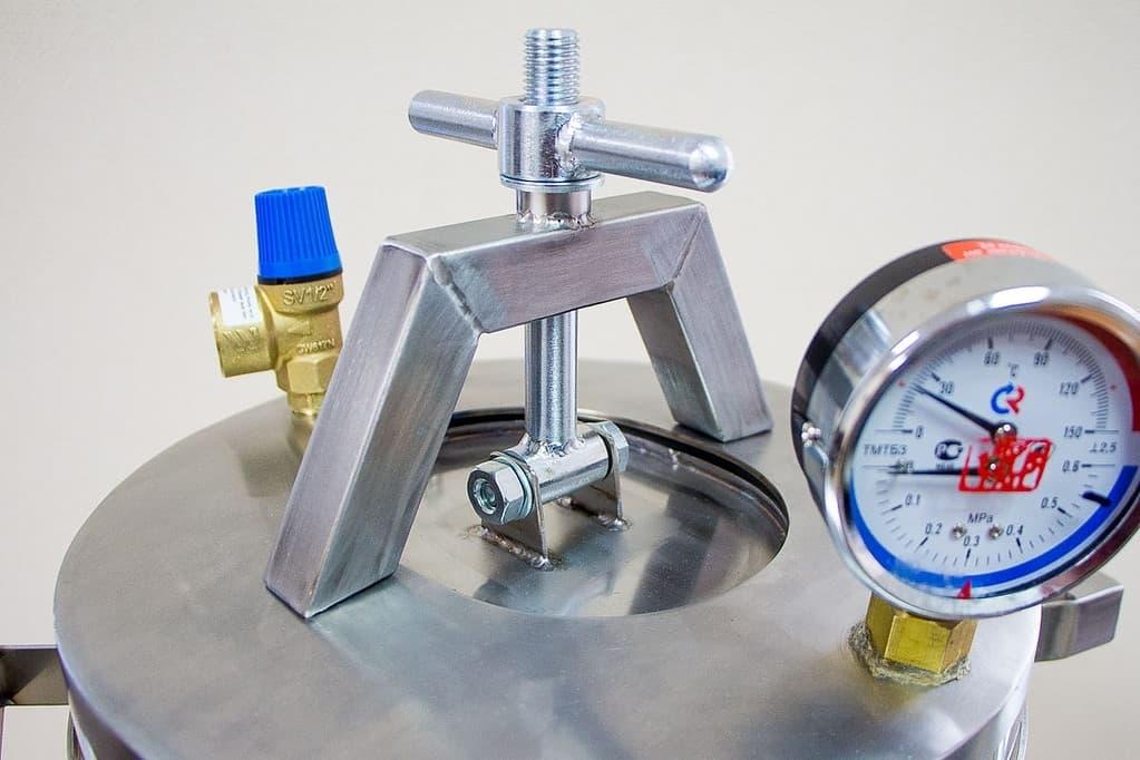 Автоклав-стерилизатор 39 л. из нерж. стали 4 мм. для всех плит - Нефор - фото 5329