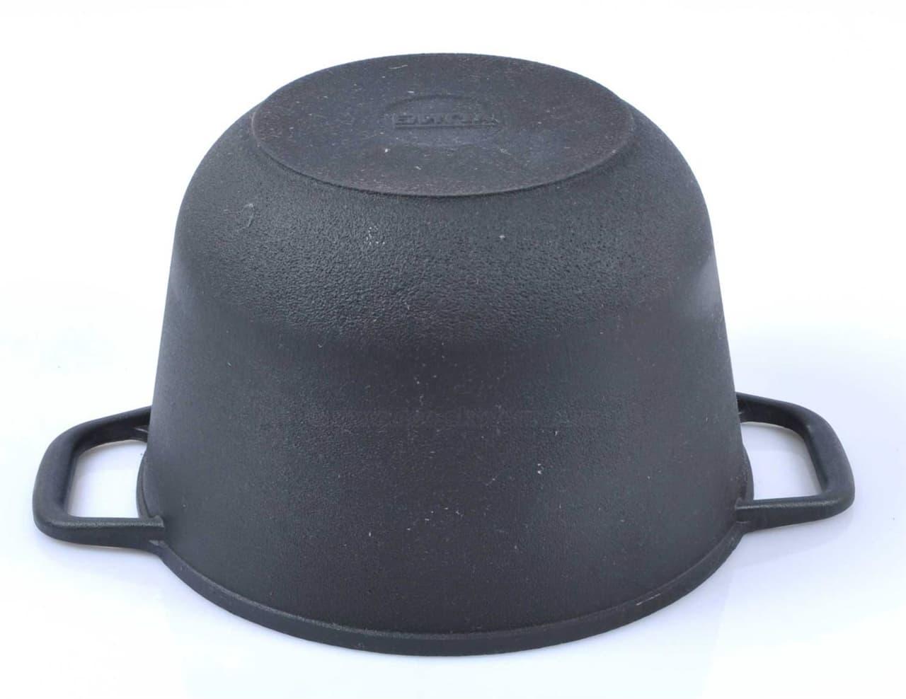 Кастрюля чугунная 3 л. с крышкой сковородой БИОЛ 0203 - фото 5387