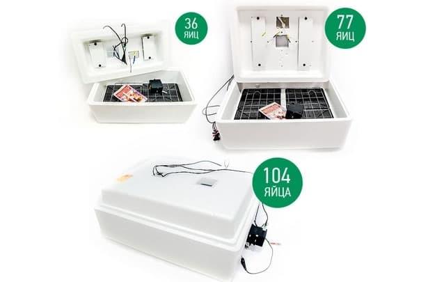 Инкубатор Несушка 104 яйца 220/12 В, автомат. поворот, цифр. терм., БИ-2 - фото 5495