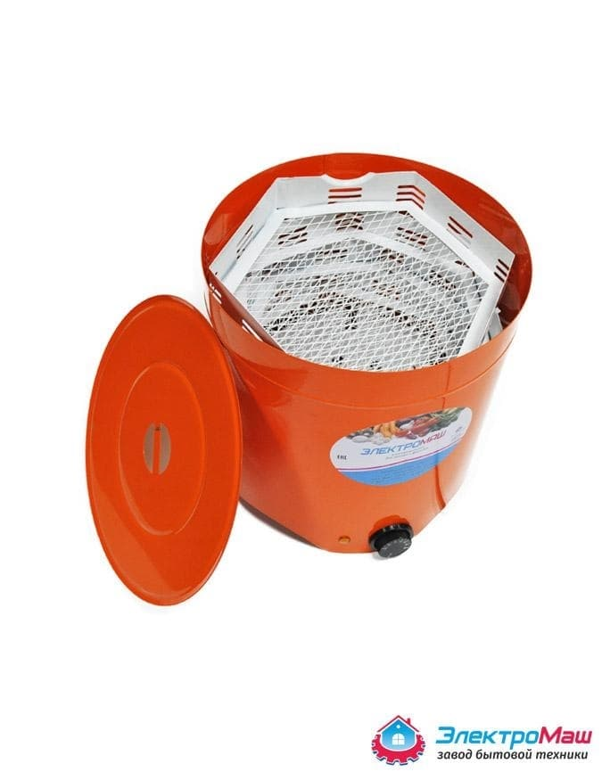 Электросушилка металлическая для овощей и фруктов 4 лотка Электромаш - фото 5554