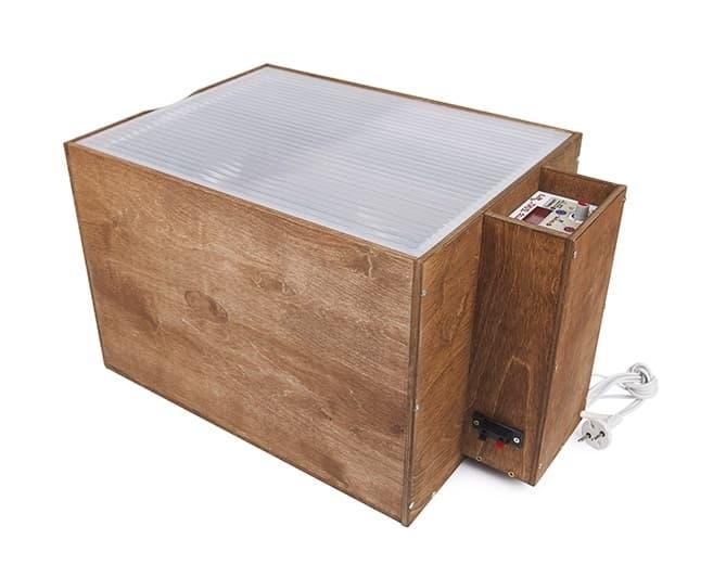 Инкубатор БЛИЦ 48 аналоговый, 220/12В, автомат.поворот, рег. влажности - фото 5593