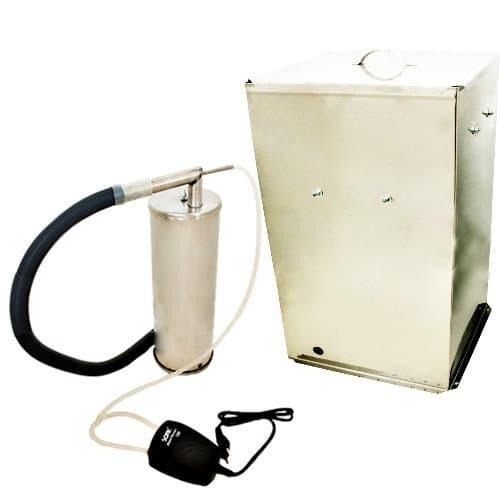 Коптильня Дым Дымыч 02Б холодное копчение из нерж. стали с емкостью 50 л. УЗБИ - фото 5661
