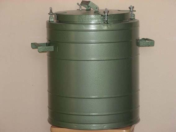 Армейский термос 36 л. с колбой из нержавеющей стали - фото 5709
