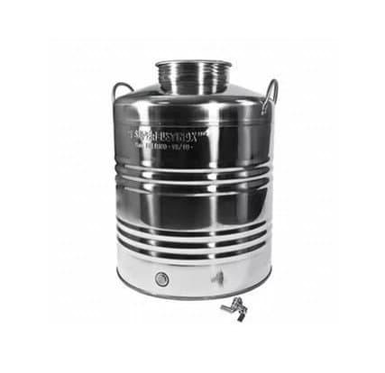 Традиционная бочка с краном на 30 литров из нержавеющей стали Sansone - фото 6084