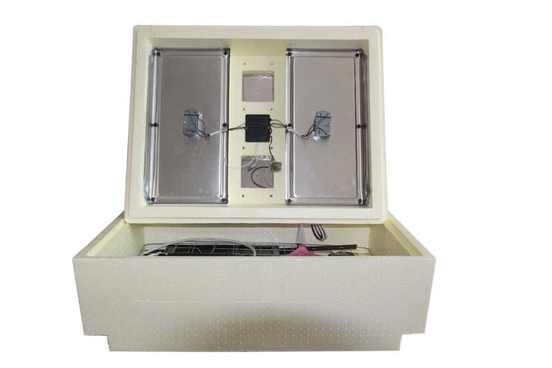 Инкубатор Золушка 70 яиц, автопереворот,220/12В, аналоговый терм., гигрометр - фото 6203