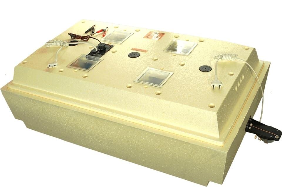 Инкубатор Золушка 98 яиц, автопереворот, 220/12В, аналоговый терм., гигрометр - фото 6219