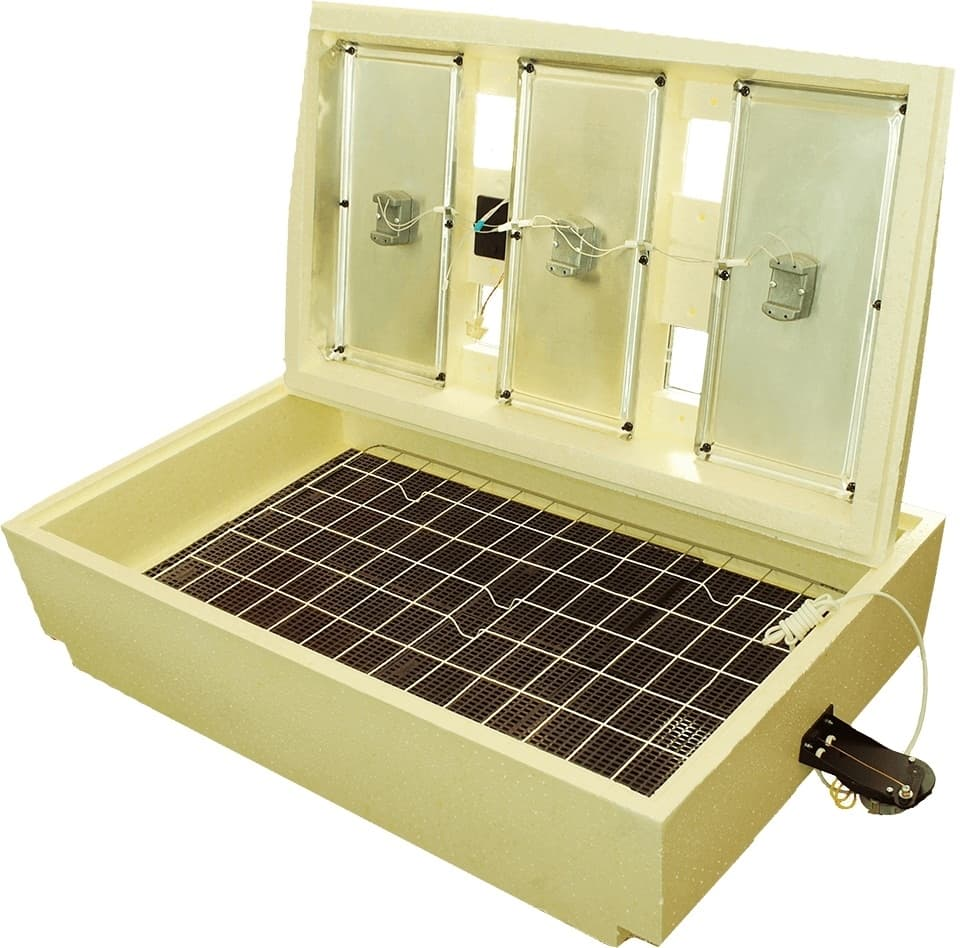 Инкубатор Золушка 98 яиц, автопереворот, 220/12В, аналоговый терм., гигрометр - фото 6220