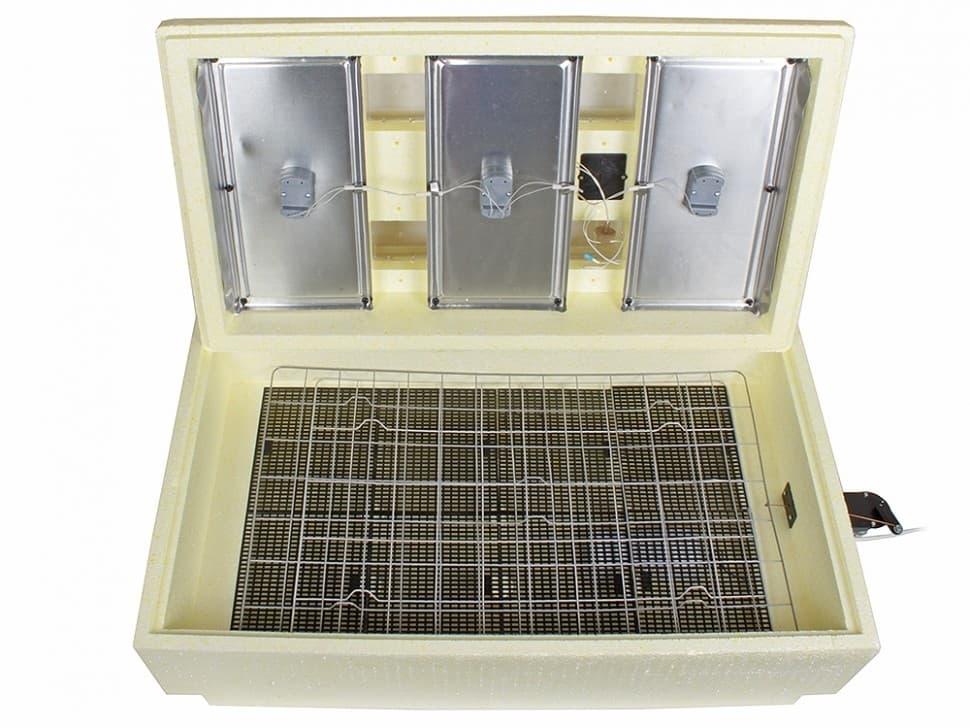 Инкубатор Золушка 98 яиц, автопереворот, 220/12В, аналоговый терм., гигрометр - фото 6221