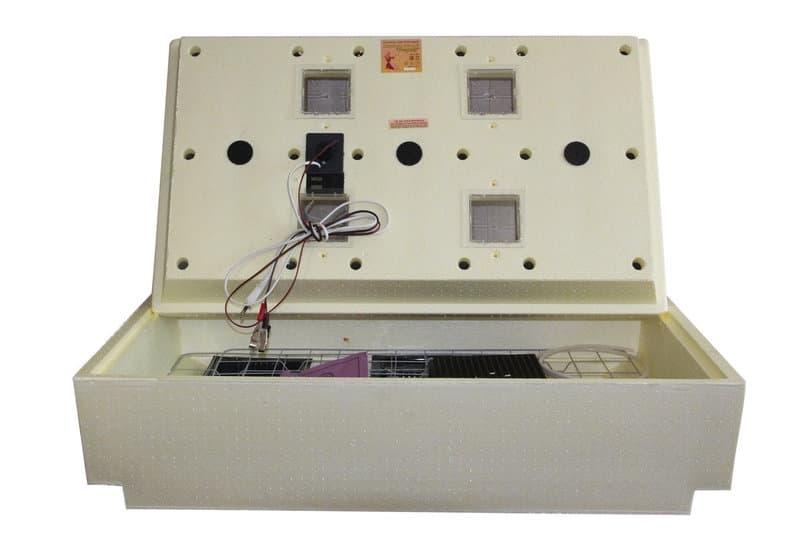 Инкубатор Золушка 98 яиц, автопереворот, 220/12В, аналоговый терм., гигрометр - фото 6223
