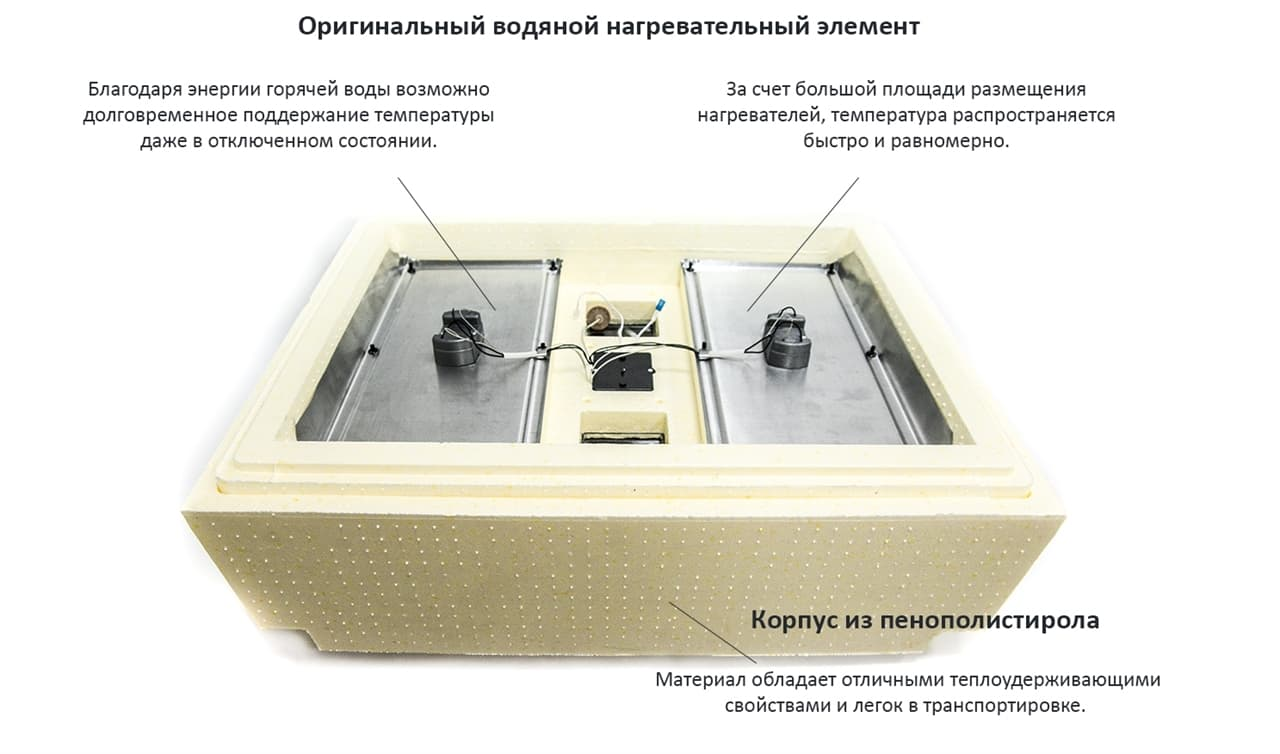 Инкубатор Золушка 98 яиц, автопереворот, 220/12В, аналоговый терм., гигрометр - фото 6225