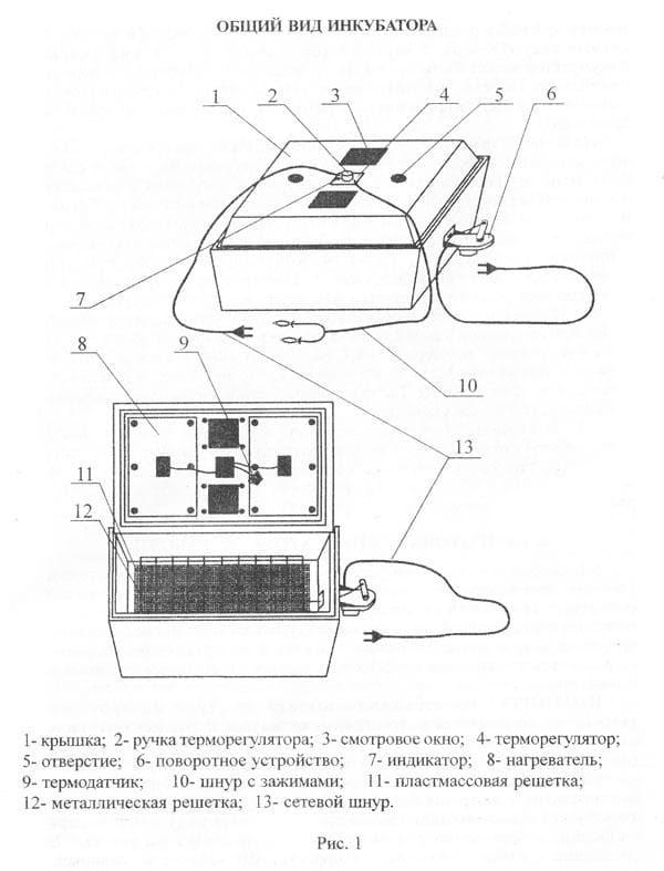 Инкубатор Золушка 98 яиц, автопереворот, 220/12В, аналоговый терм., гигрометр - фото 6232