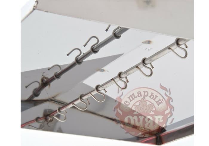 Коптильня универсальная 2 в 1 (гор/хол копчение) 450х250х300 с г-з, кр. домиком - фото 6320