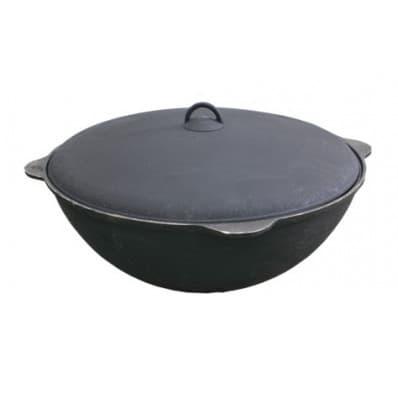 Чугунный казан с крышкой 25 л. Балезино и печь KUKMARA - фото 6611