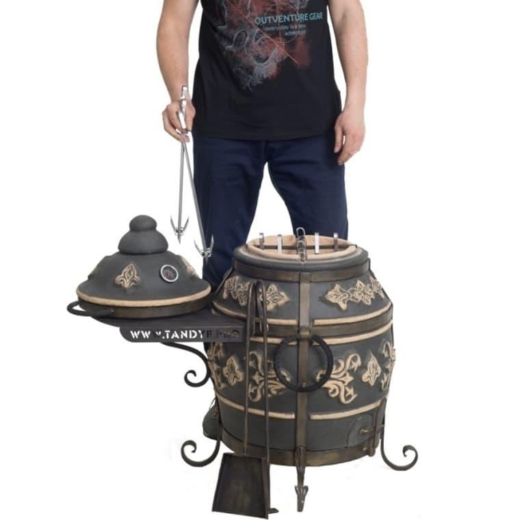 Тандыр Фирменный со столиком, графит, Эко - фото 6772