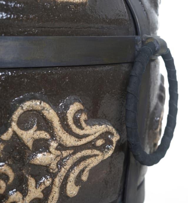 Тандыр Гранд с подставкой под крышку, чёрный, Эко - фото 6843
