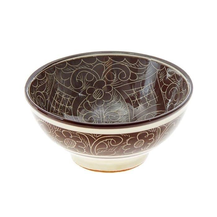 Коса для первых блюд Риштанская Керамика малая d-14,5 см. h-7 см. коричневая - фото 7468