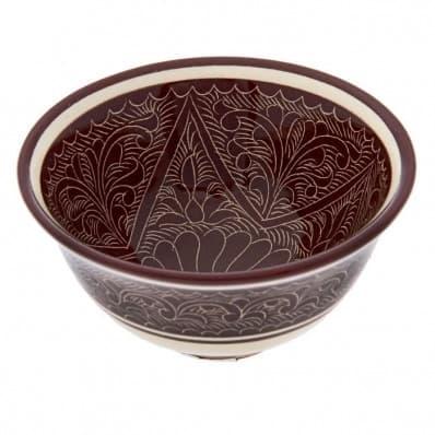 Набор чайный Риштанская Керамика, 9 предметов, коричневый - фото 7567