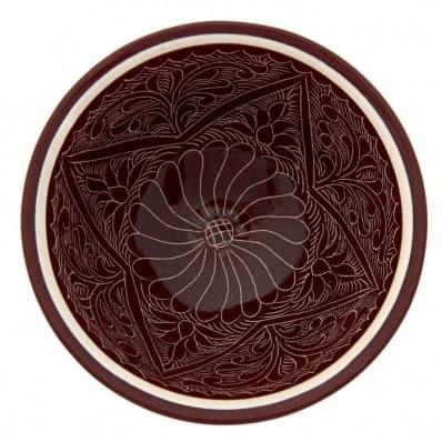 Набор чайный Риштанская Керамика, 9 предметов, коричневый - фото 7568