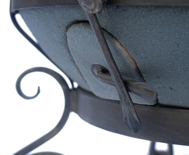 Тандыр Шар, графит, с откидной крышкой, Эко - фото 8101