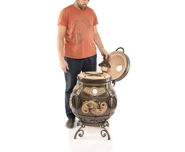 Тандыр Шар, черный, с откидной крышкой, Эко - фото 8114