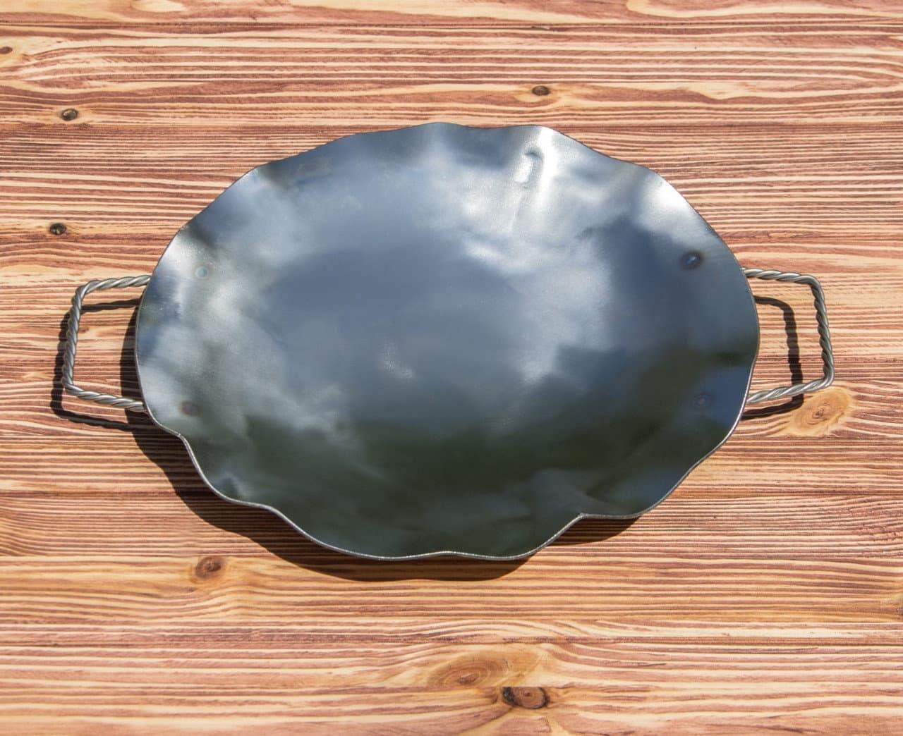 Садж сковорода без подставки, нержавеющая сталь, 35 см. - фото 8462