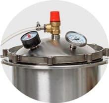 Автоклав Fansel (Фансел) 37 литров, нерж сталь, для всех плит - фото 8659