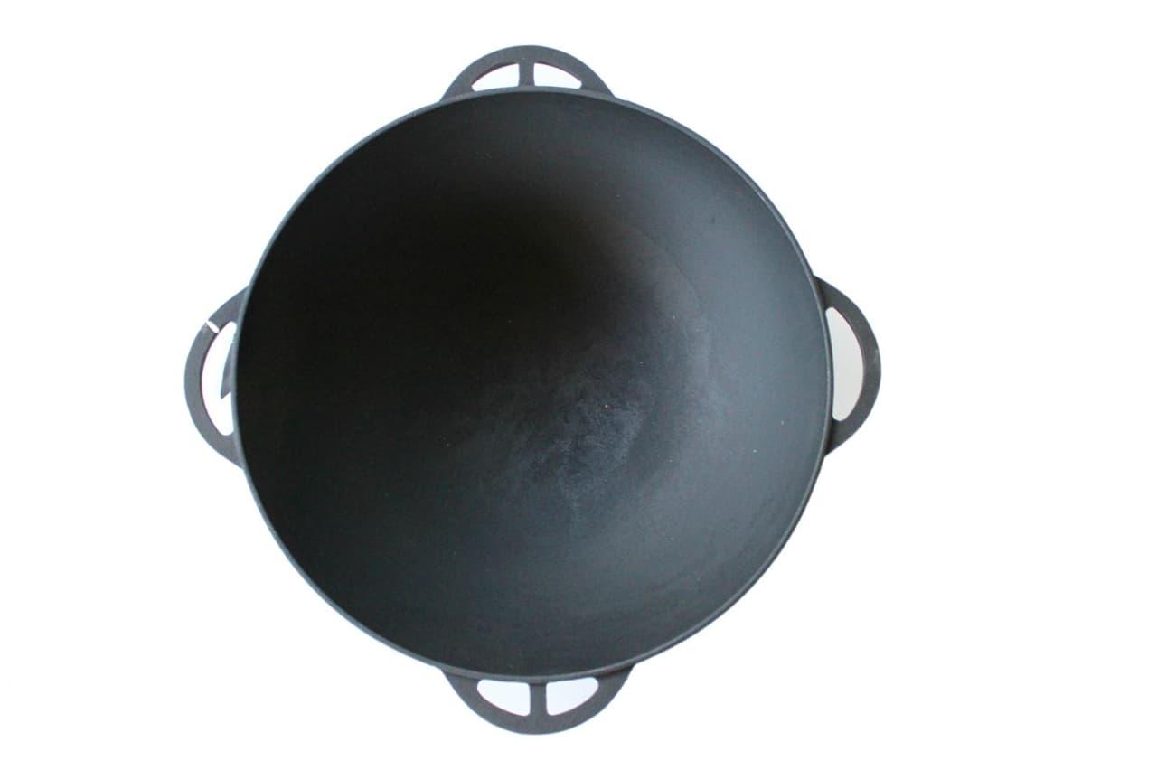 Чугунный казан ''термо'' 17 л. с чугунной крышкой Ситон арт.Ч450/17к - фото 8708