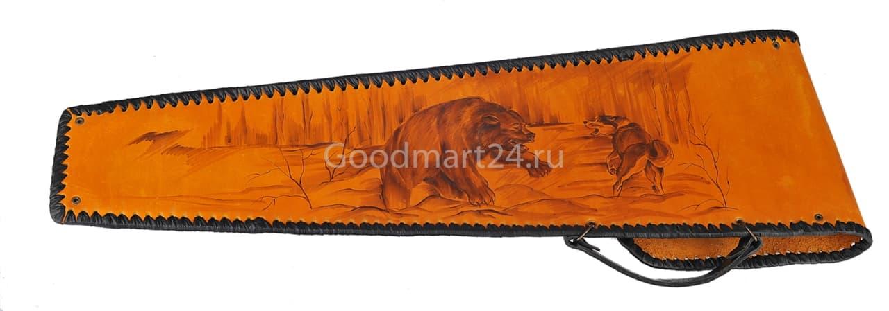 Чехол для шампуров Колчан Медведь, кожа - фото 8768