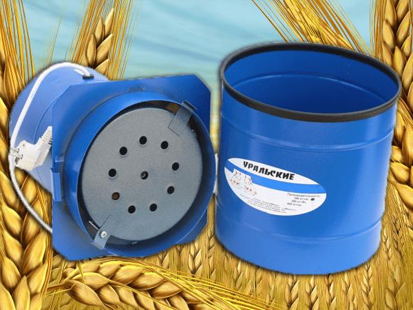 Зернодробилка Уральские Хрюшки электрическая круглая,до 300 кг/ч, 800 Вт. ТермМикс - фото 9089