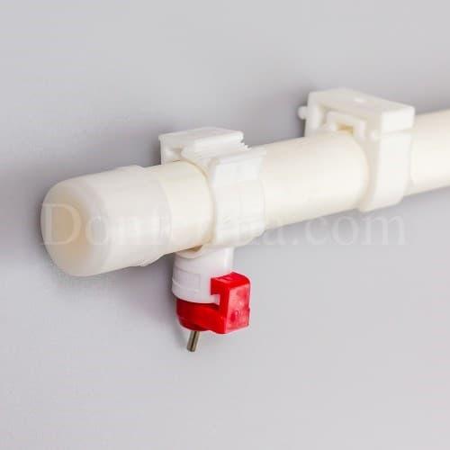 Система поения - 50 см. труба и три чашечные поилки арт. 3083 - фото 9787