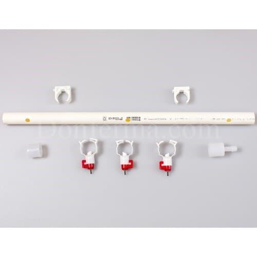 Система поения - 50 см. труба и три чашечные поилки арт. 3083 - фото 9788