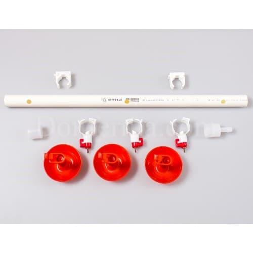 Система поения - 50 см. труба и три чашечные поилки арт. 3083 - фото 9789