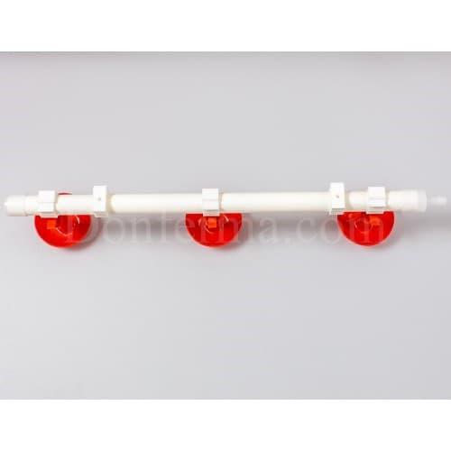 Система поения - 50 см. труба и три чашечные поилки арт. 3083 - фото 9791