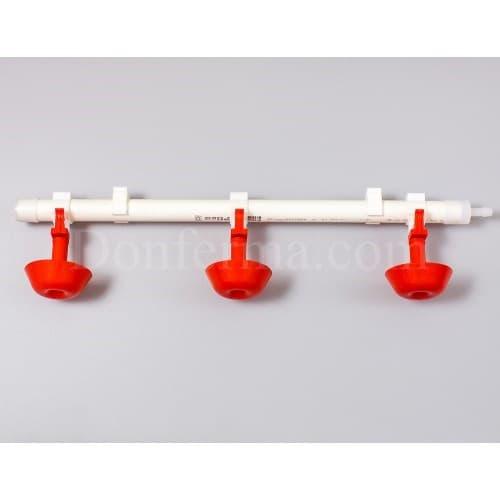 Система поения - 50 см. труба и три чашечные поилки арт. 3083 - фото 9792