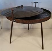 Садж сковорода Костёр с ножками и крышкой, d-40 см.