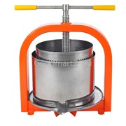 Пресс Лан 20 литров для отжима сока, винтовой с кожухом, нерж.сталь