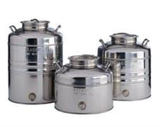 Традиционная бочка с краном на 100 литров из нержавеющей стали Sansone