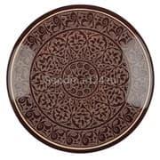 Ляган Риштанская Керамика 38 см. плоский, коричневый